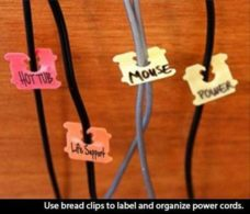 Use Bread Clips to Organize Cables