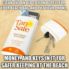Sunscreen Key Hider