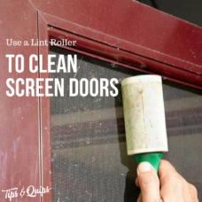 Use a Lint Roller to Clean a Screen Door
